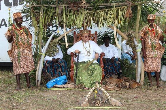 Chief Mosenge on his throne